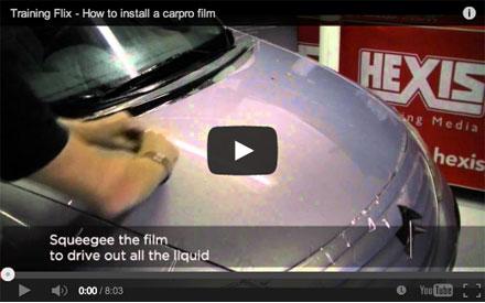 Установка антигравийной плёнки Hexis видео